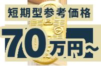 短期型参考価格 70万円〜